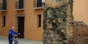 Restos de la Puerta del Comendador en la antigua muralla de Ponferrada (C. Sánchez/Ical)