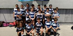 Miembros de la Escuela Municipal de Rugby, en Lugo (Bierzo Rugby)