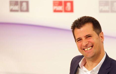 Luis Tudanca durante la reunión del Consejo Territorial del PSOE (Rubén Cacho)