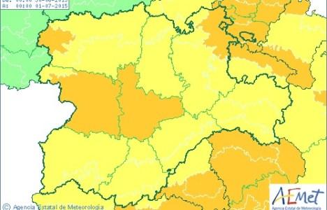 Mapa de la Comunidad con las alertas amarillas y naranjas para el martes