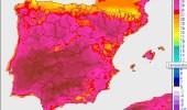 Imagen de las máximas previstas en toda España el próximo lunes