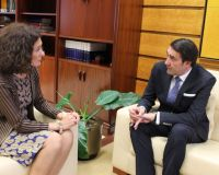 Reunión de la alcaldesa con Suárez Quiñones en Valladolid