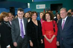 Gloria Merayo con el presidente de la Diputación y el alcalde de León, hoy en Intur