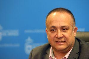 El presidente del Consejo Comarcal, Gerardo Álvarez pide que no haya más símbolos que la pancarta de la manifestación