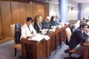 Las dos concejalas de Ciudadanos en primer término
