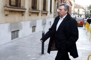 El diputado provincial, Raúl Valcarce, acude a declarar como testigo al juicio por la muerte de Isabel Carrasco ( Carlos S. Campillo)