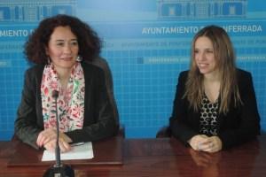 La alcaldesa de Ponferrada, Gloria Fernández Merayo, y la jueza decana de Ponferrada, Silvia Martínez Cantón.