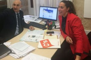 El diputado Juan Carlos Fernández Domínguez y la concejala Elena Castro.