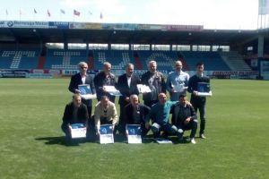 Homenaje realizado por la Deportiva.