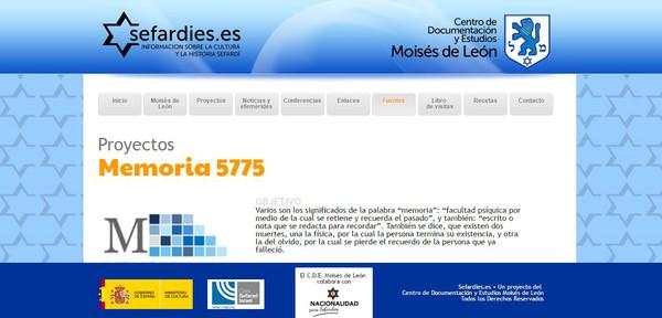 Página web del Centro de Documentación Moisés de León (Ical)