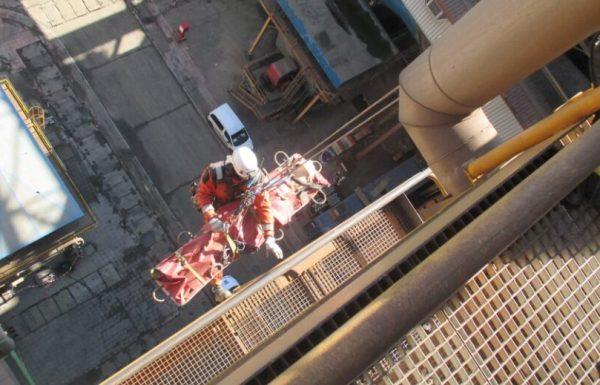 Imagen del simulacro.