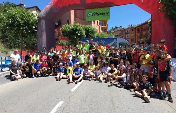 Participantes de la I fase de la copa de España de alpino en línea, celebrada en Puigcerdá