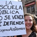 cartel marcha docentes