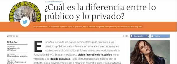 diferencia entre lo público y lo privado