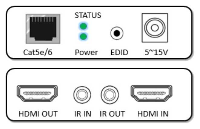 LOHD73-DIR Video Extender HDMI su Cat6/7E con ripetitore di