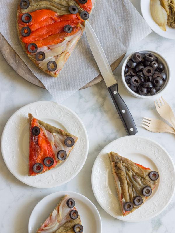 Masa de pizza de quinua