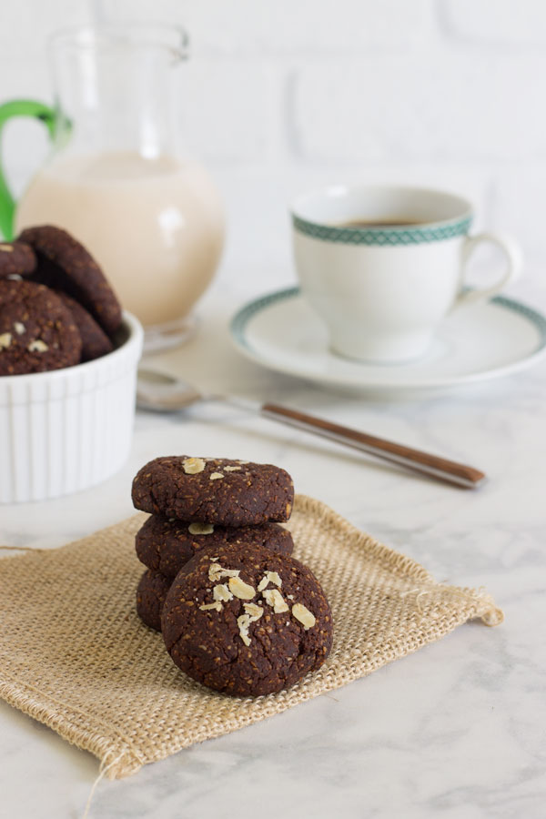 Galletas de avena y cacao saludables
