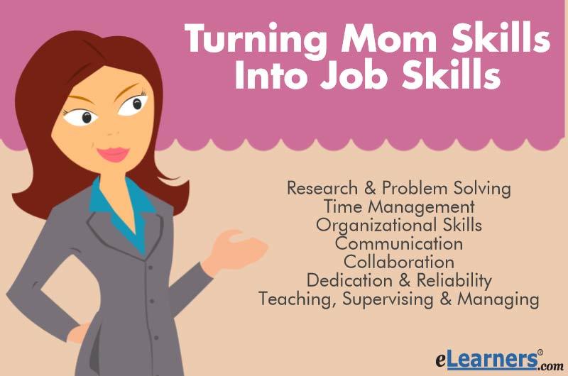 Turning Mom Skills into Job Skills eLearners