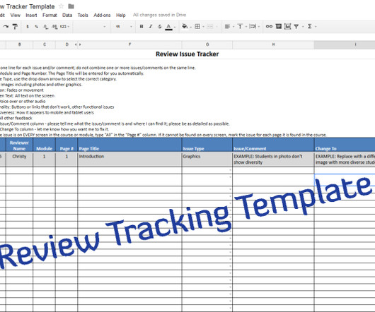 Templates and Track - eLearning Learning