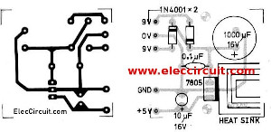 circuit diagram of power supply using 7805