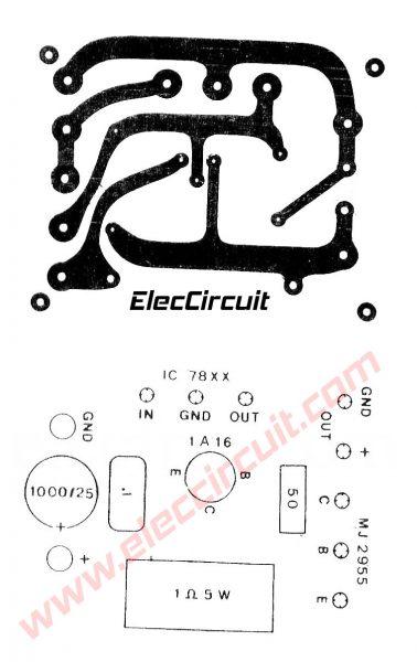 7805 mj2955 power supply 5v 5a for digital circuit