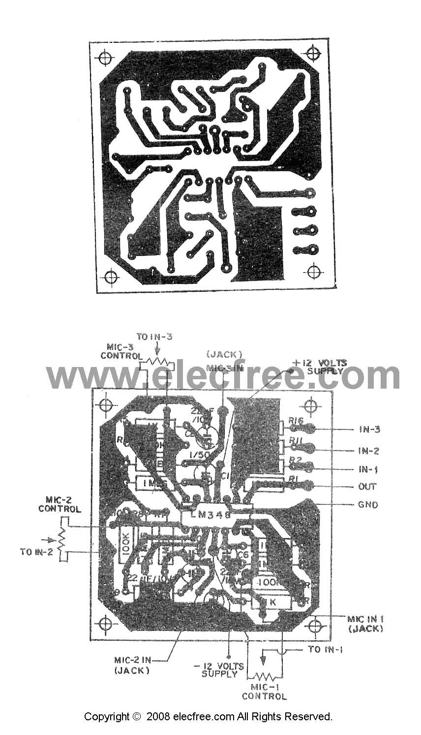 mic mixer circuits
