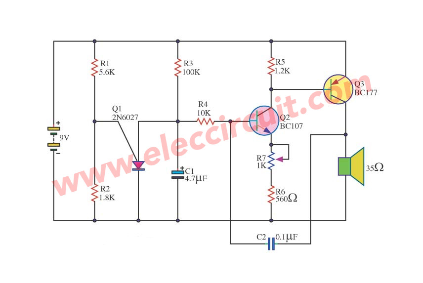Burglar Alarm: Burglar Alarm Circuit Diagram Using Ic 555