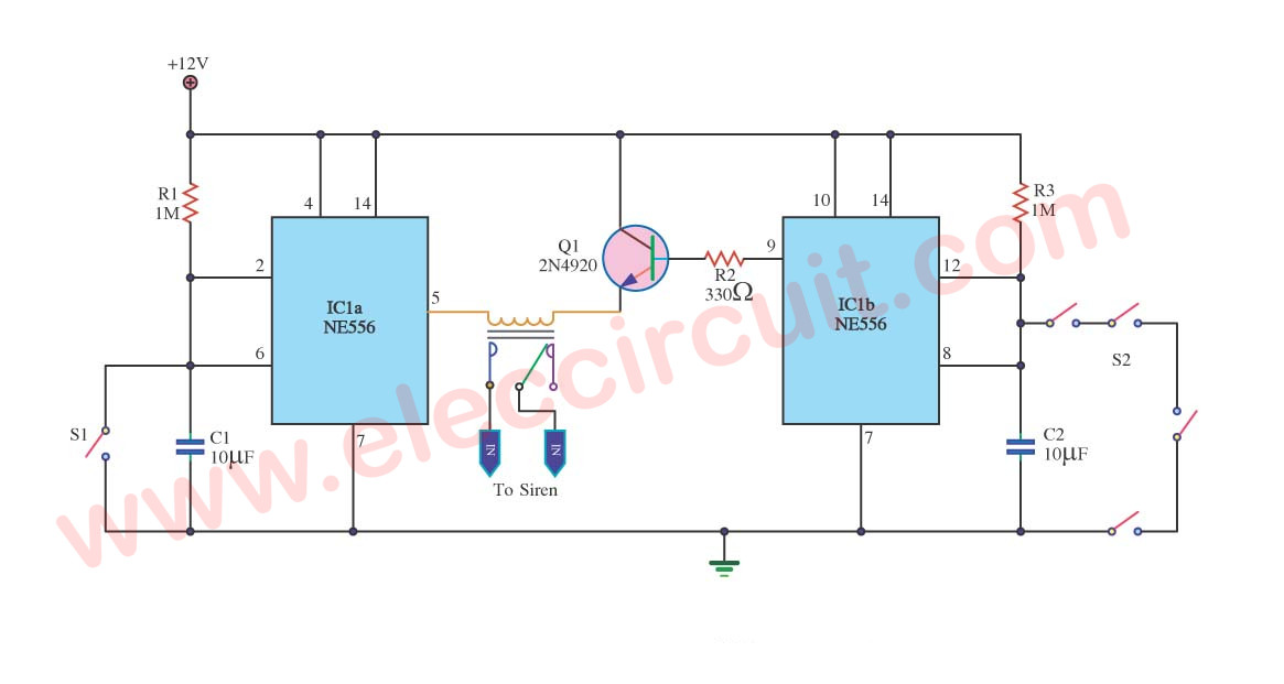 Burglar Alarm: Burglar Alarm Using Ic 555