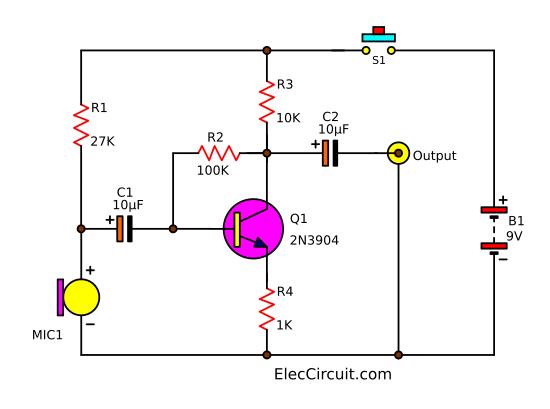 4 Pin Xlr Microphone Wiring Diagram Simple Condenser Mic Preamp Circuit Eleccircuit Com