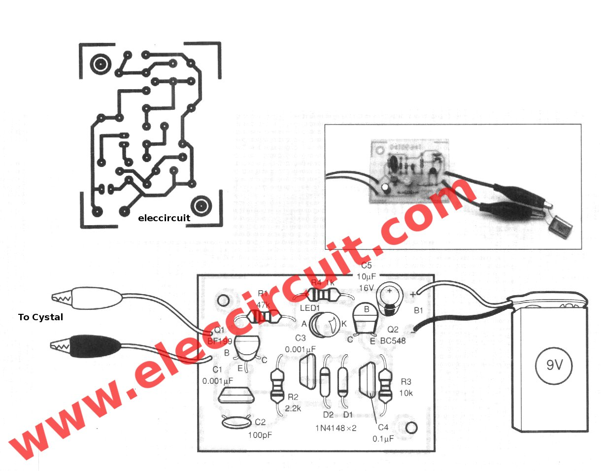crystal tester circuits using bc107