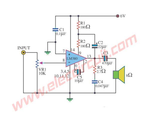 lm390 power amplifier schematic