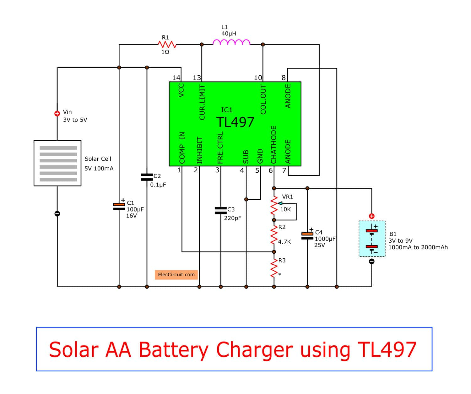 make solar aa battery charger by tl497