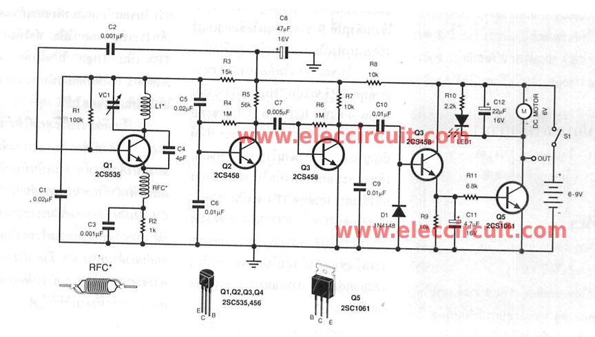 radio remote control circuits