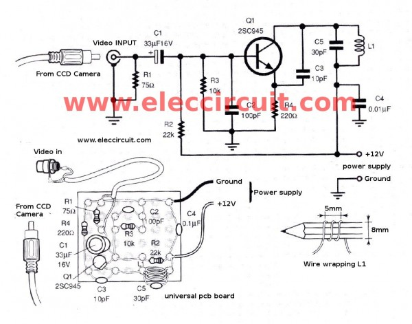 small tv transmitter circuit