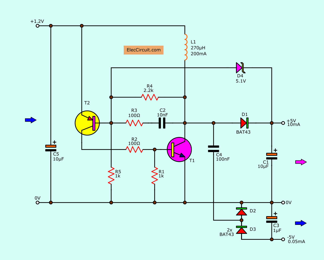 circuit dc to dc converter to step up input voltage