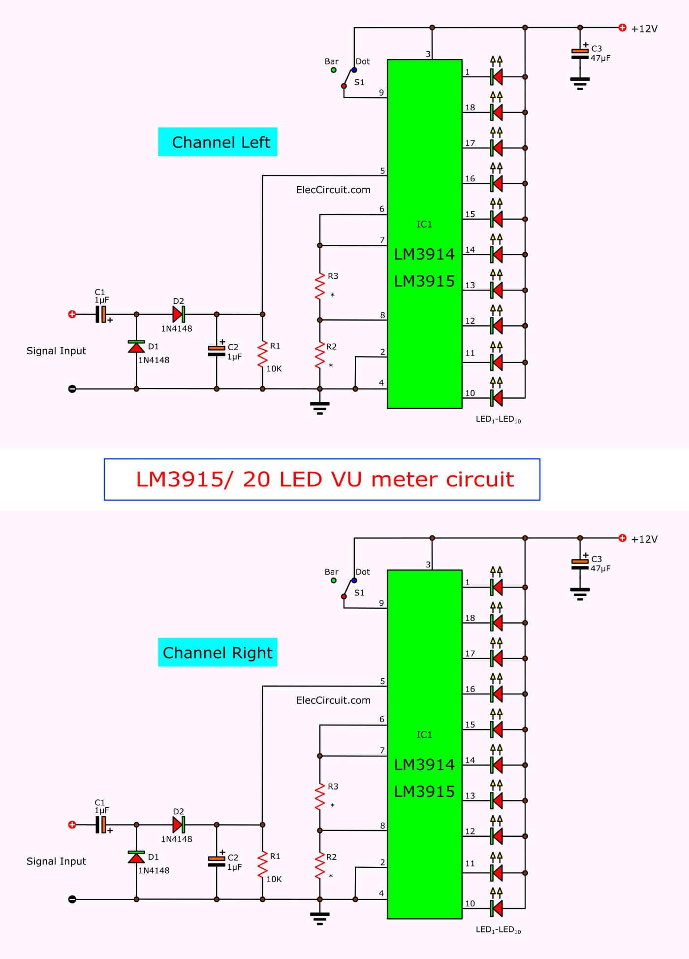 Lm3914 Vu Meter Circuit Diagram car block wiring diagram