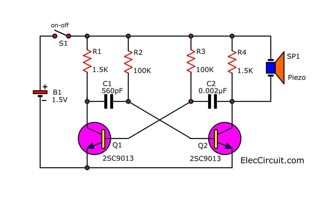 simple transistor circuit