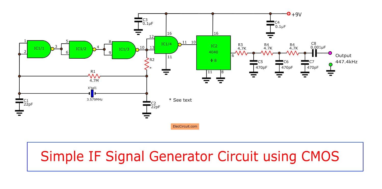 Simple IF signal generator circuit using CMOS IC - ElecCircuit