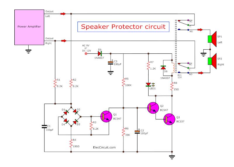 speaker schematic circuit