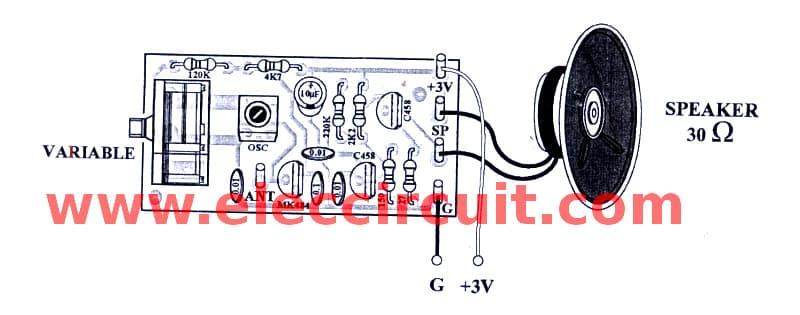 Simple AM radio receiver circuit with earphone - Eleccircuit