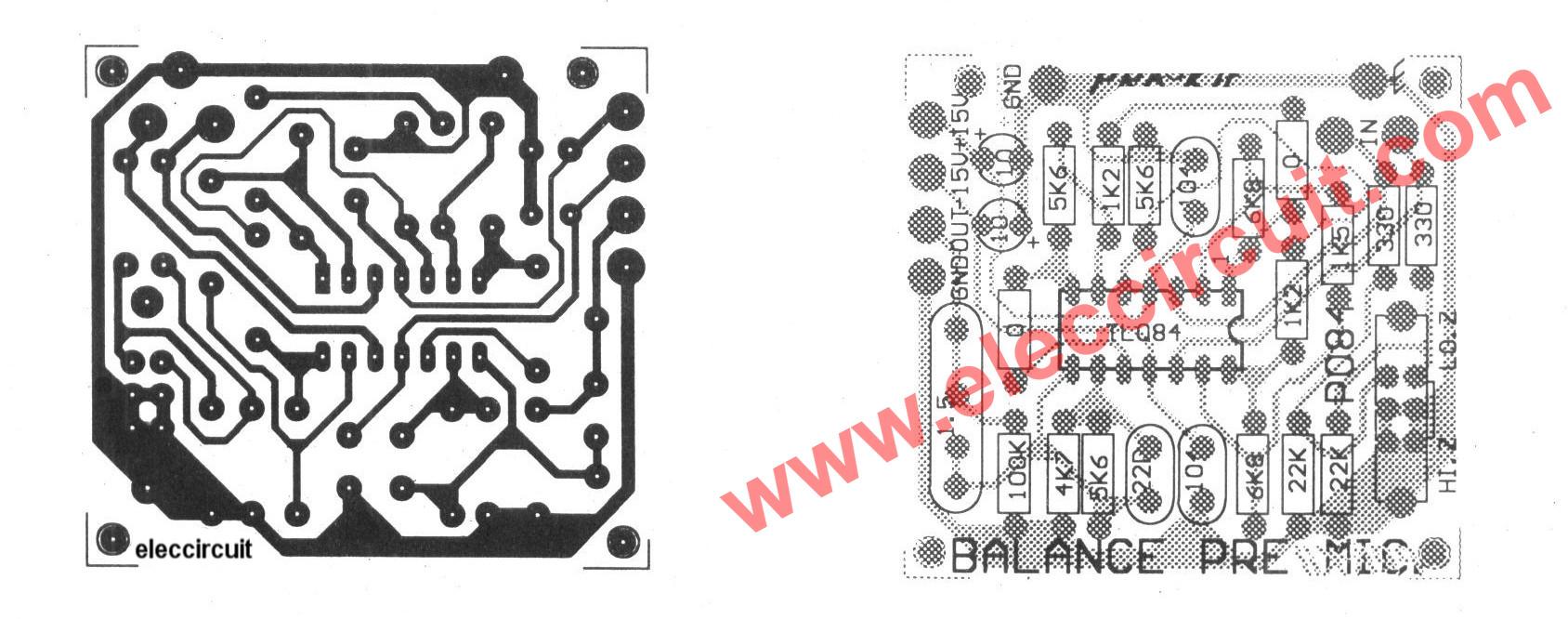 figure 1 balance input pre microphone amplifier circuit