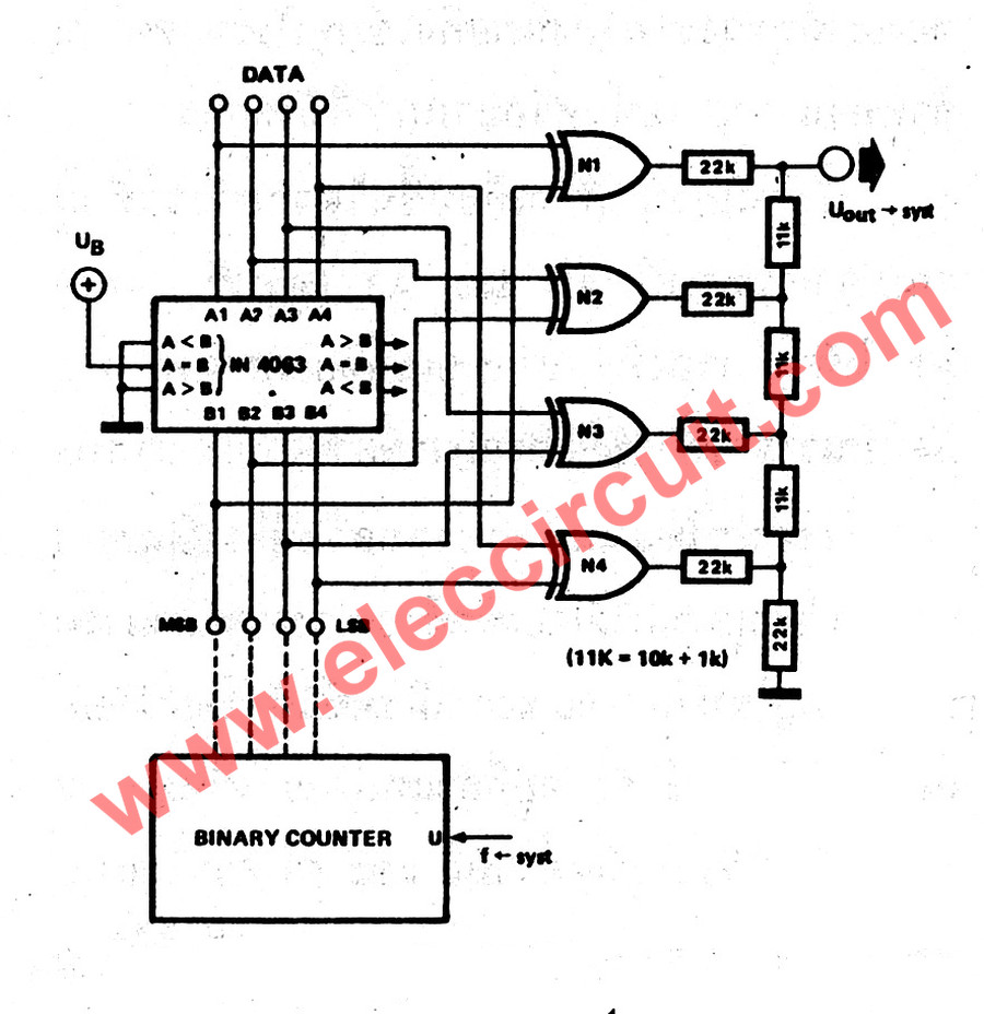simple one shot touch switch using ic4011