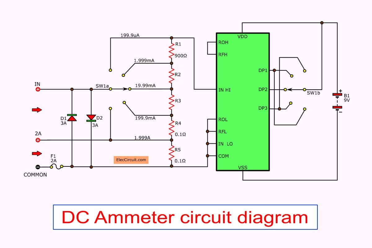 Digital Led Voltmeter Using Icl7107 The Circuit Index listing of