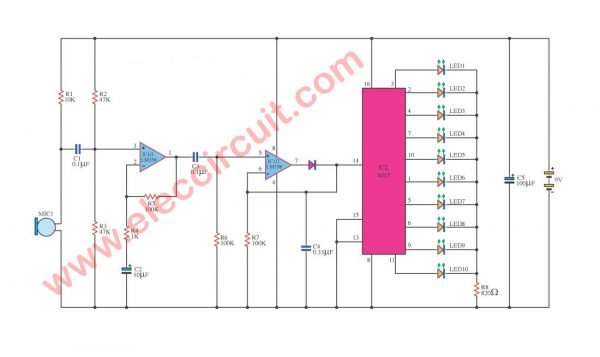 voice control circuit scr control circuit music sound circuit