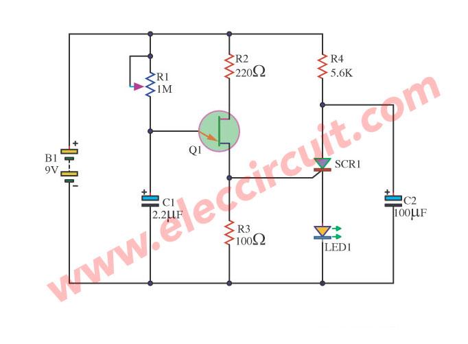 scr alarm circuit schematic diagram