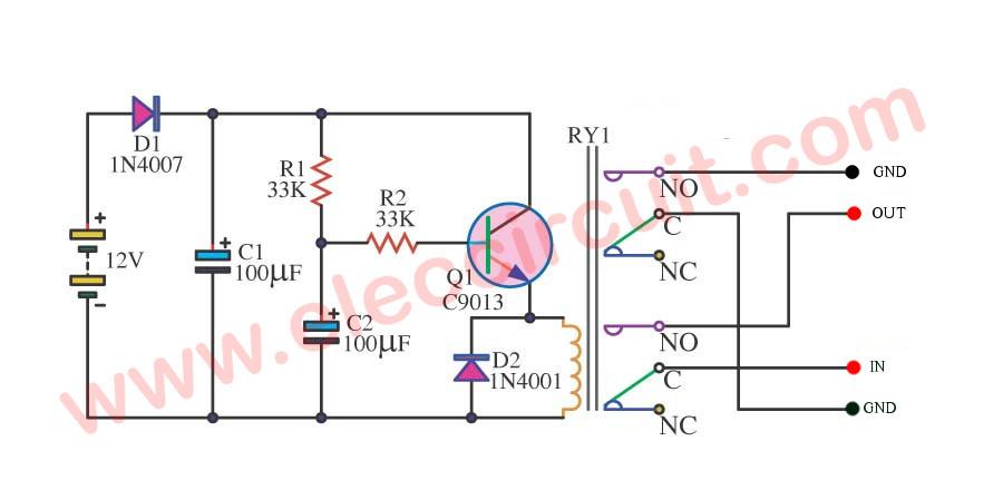 Simple delay on speaker ElecCircuit