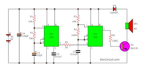 circuit diagram 555 timer astable