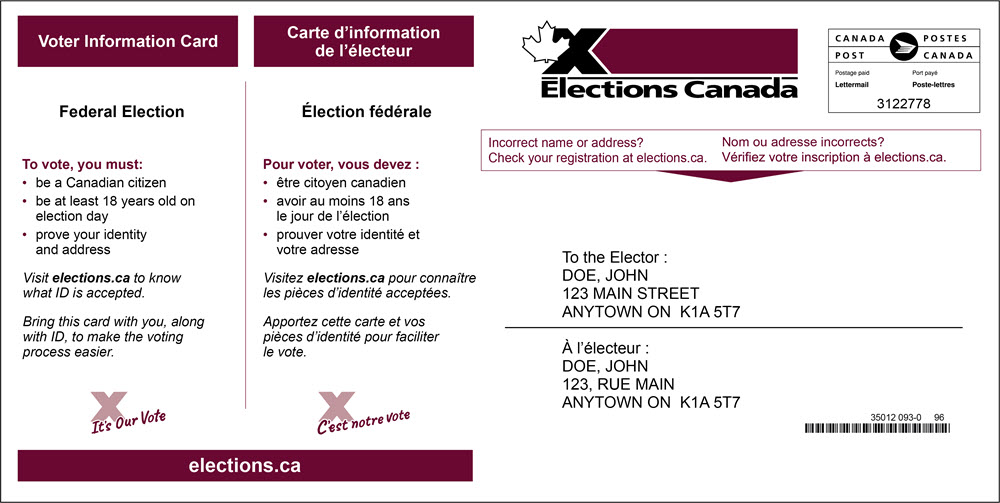 Elections Canada Online Glossary