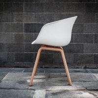 White Scandinavian Chair - Electra Exhibitions