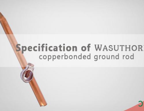 "Specification of ""wasuthorn"" copper bonded ground rod"